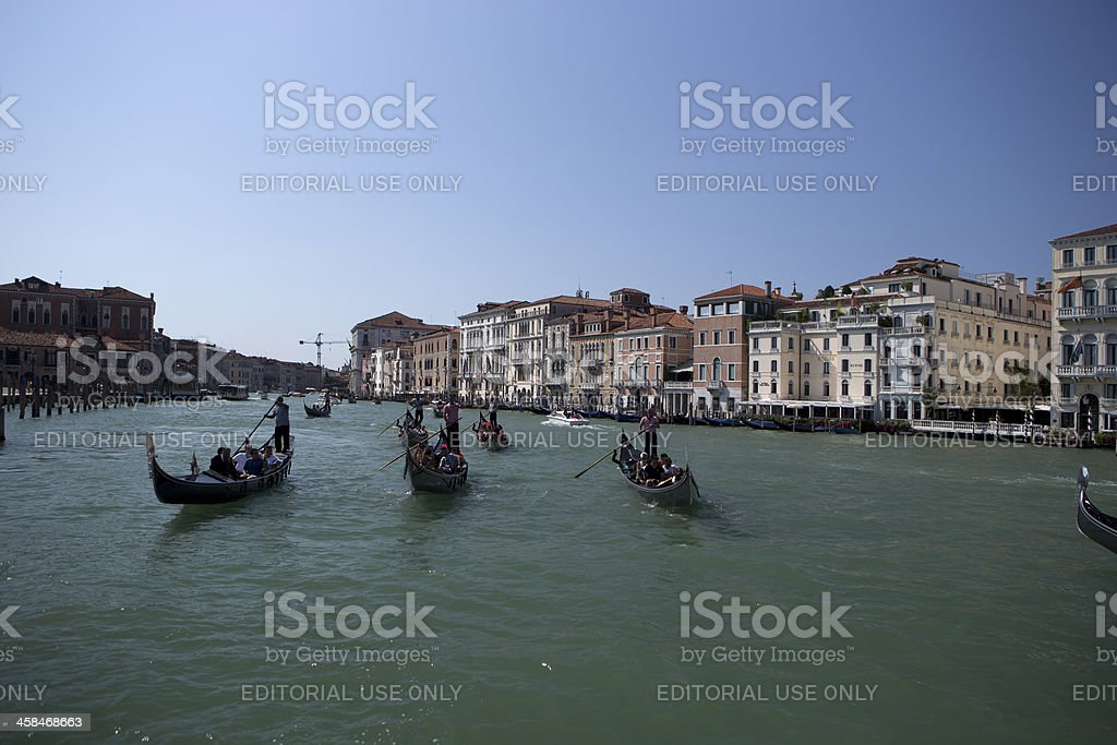 Many Gondolas royalty-free stock photo