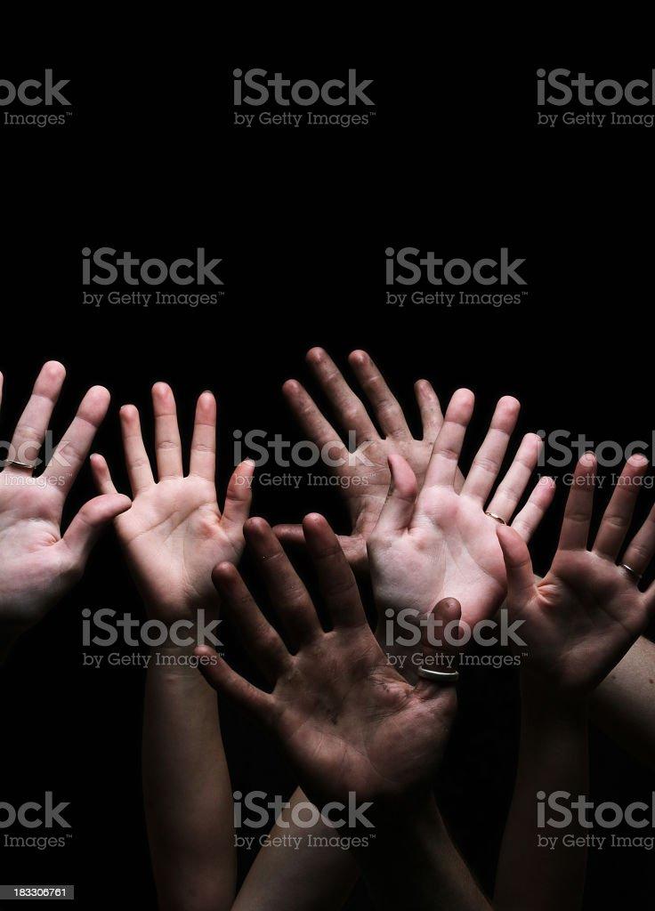 Many Hands royalty-free stock photo