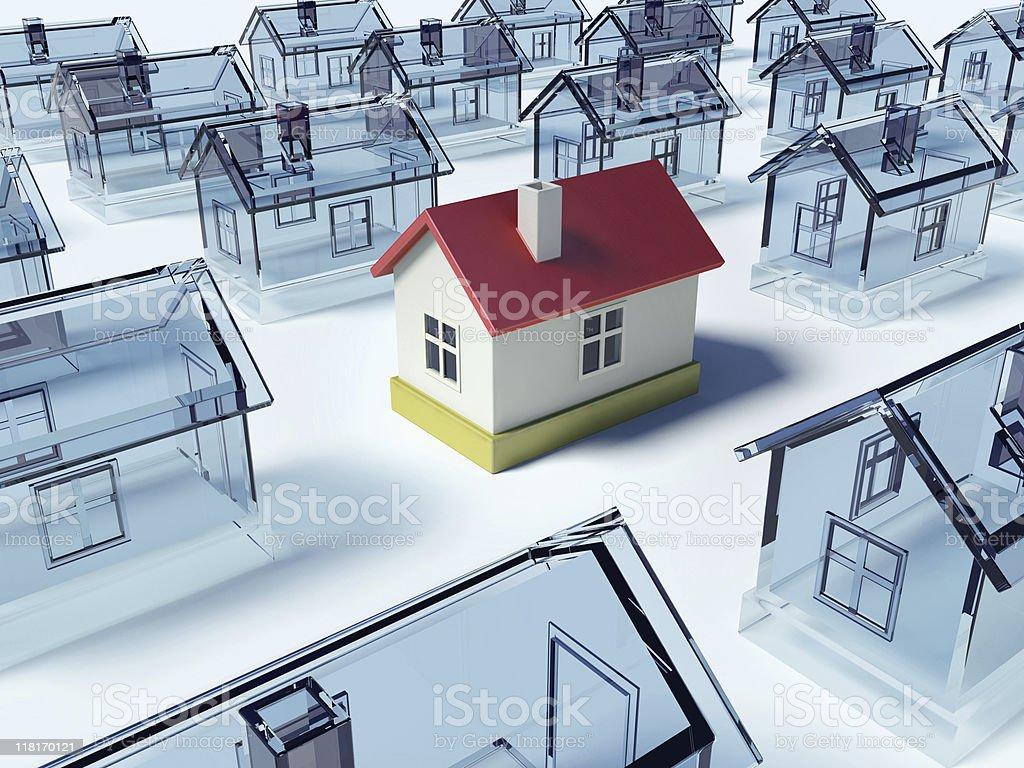 Many houses. stock photo