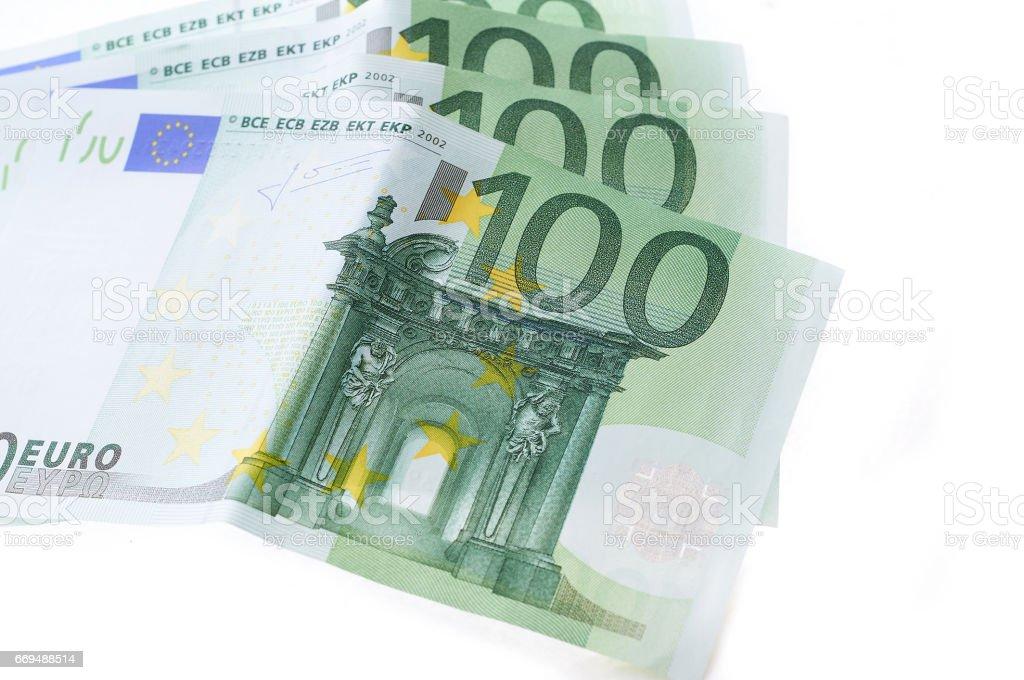Many hundred euro banknotes european currency stock photo