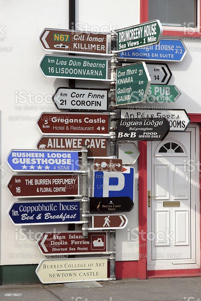 many irish road signs royalty-free stock photo