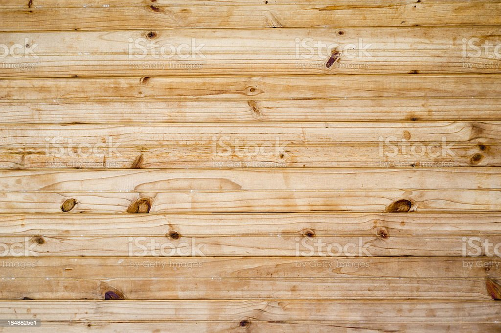 Many knotty pine boards for background or texture stock photo