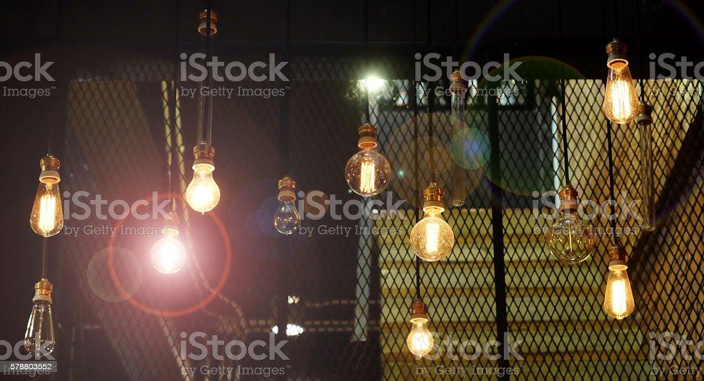 Many Lamp lighting antique stock photo