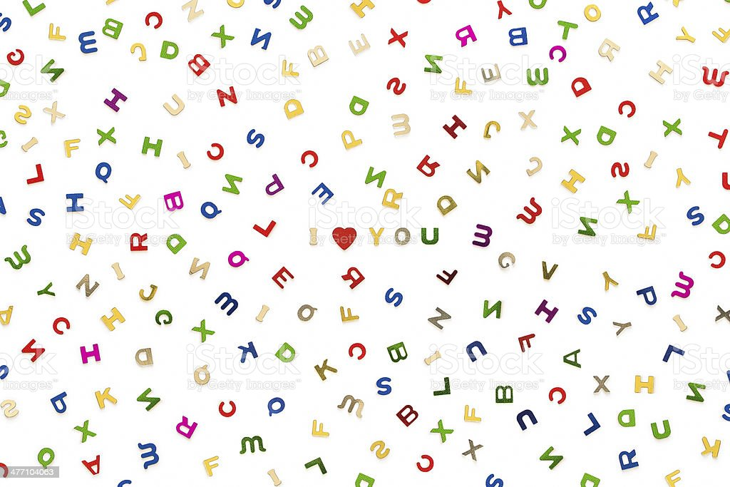Molte lettere di vari colori foto stock royalty-free