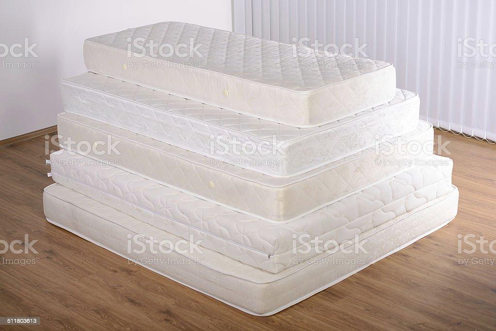 Many mattresses stock photo