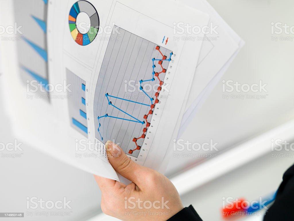 Many meeting materials stock photo