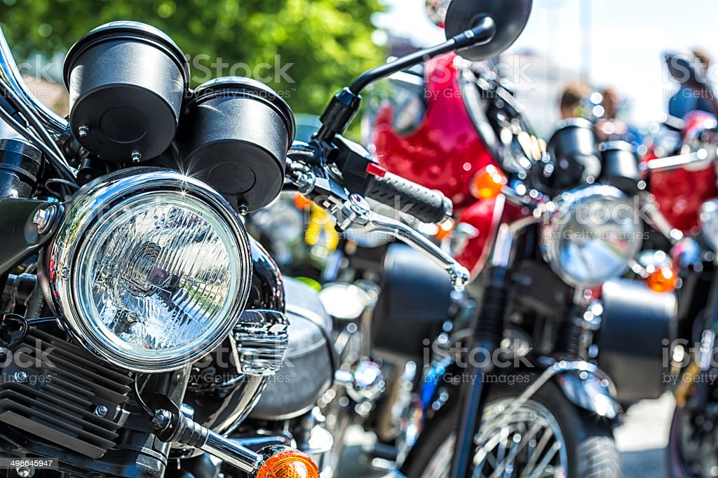 Many Motorcycles stock photo