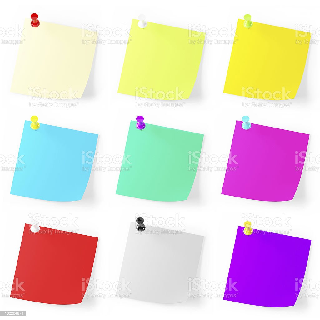 Many note pad with clipping path royalty-free stock photo