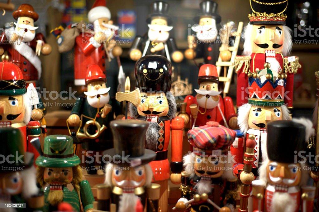 many nutcrackers stock photo