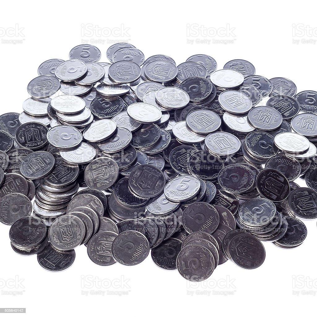 Many of shiny coins metal stock photo