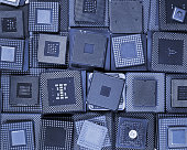 Many old CPU chips and obsolete computer processors