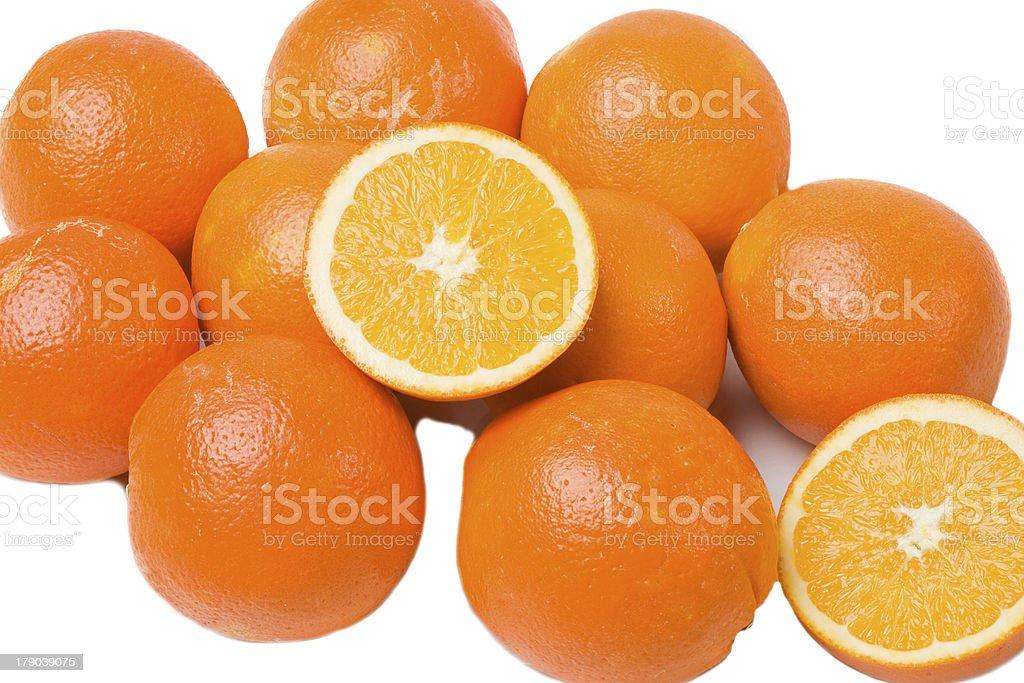 Many oranges royalty-free stock photo