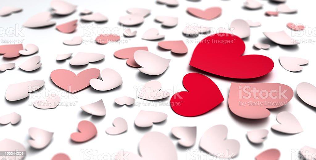 Many paper hearts royalty-free stock photo