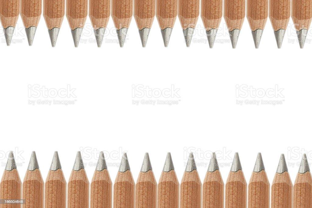 Many Pencils isolated on white royalty-free stock photo
