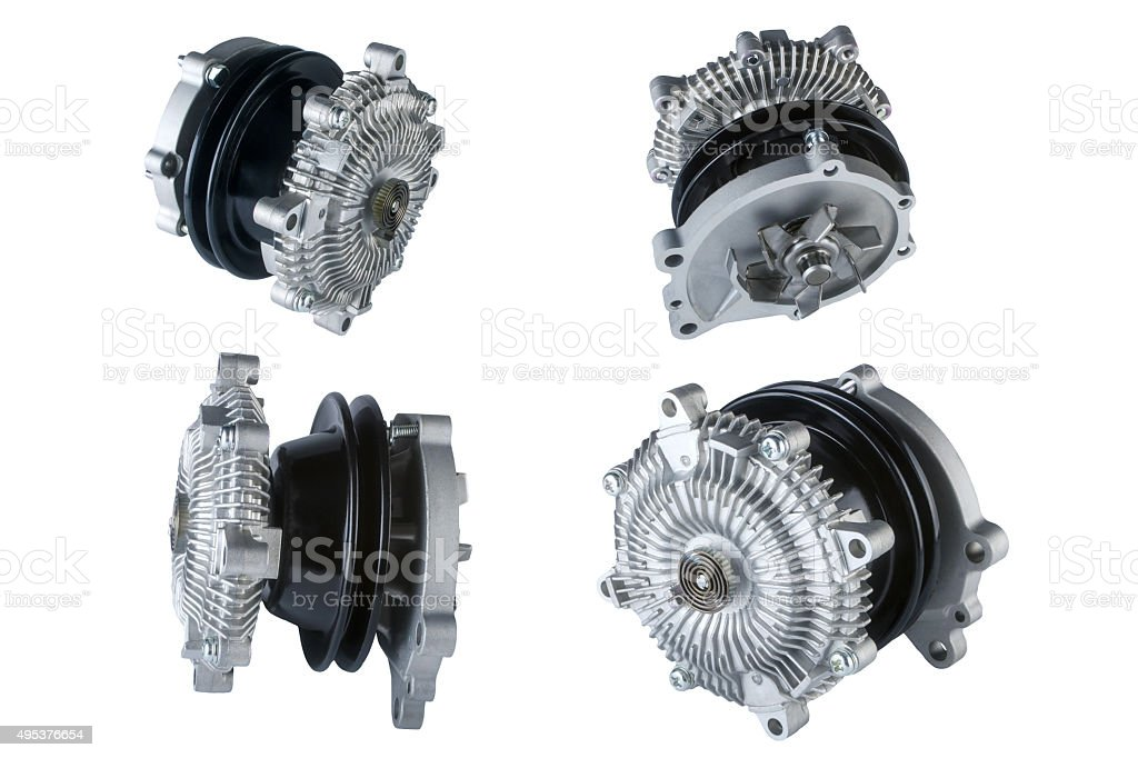 Many pictures of engine Cooling Fan Clutch stock photo