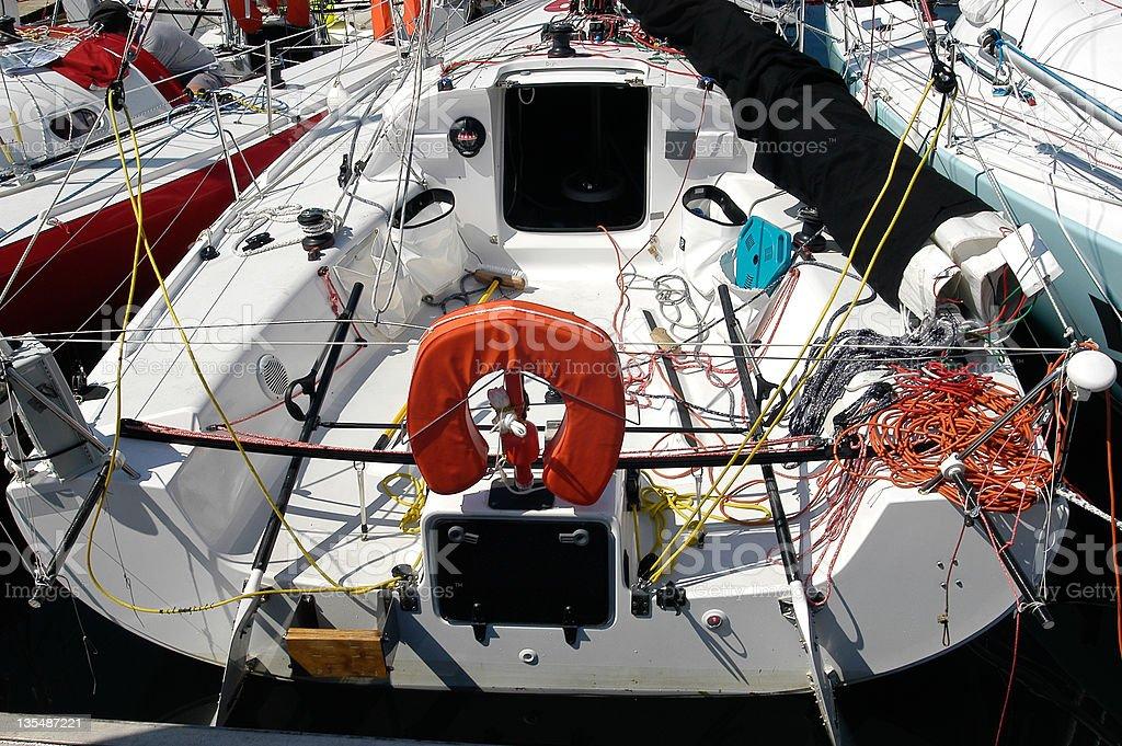 many pogo sailboat stock photo