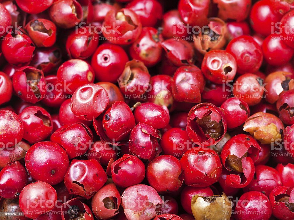 many red pepper peppercorns royalty-free stock photo