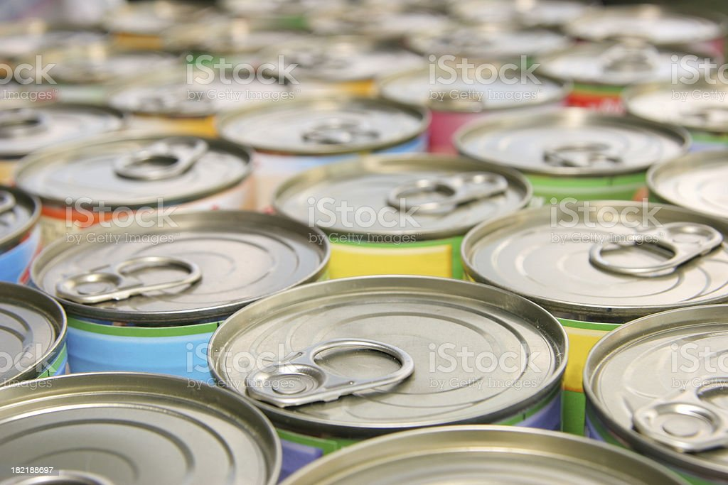 many ring-pull cans stock photo