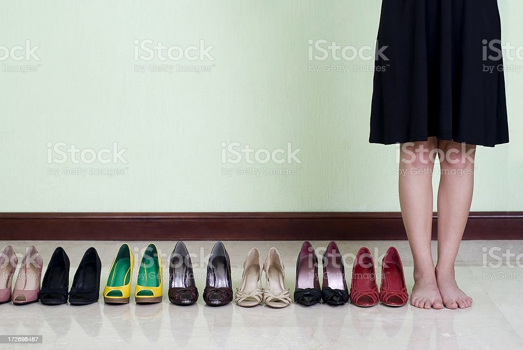 Many shoes royalty-free stock photo