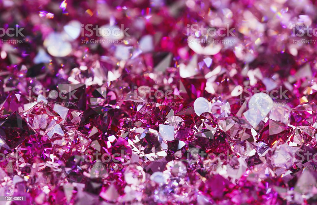 Many small ruby diamond stones, luxury background royalty-free stock photo