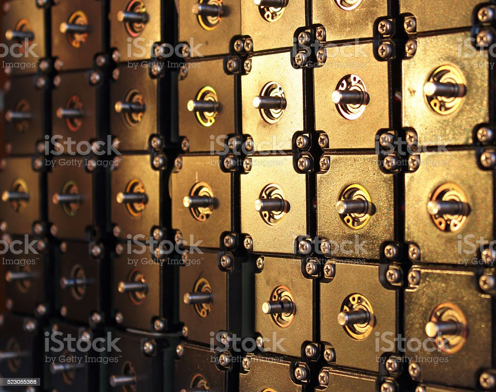 Many stepper motors as background stock photo