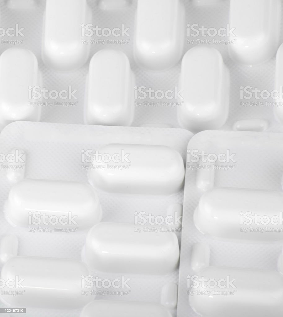 many tablets in blister stock photo