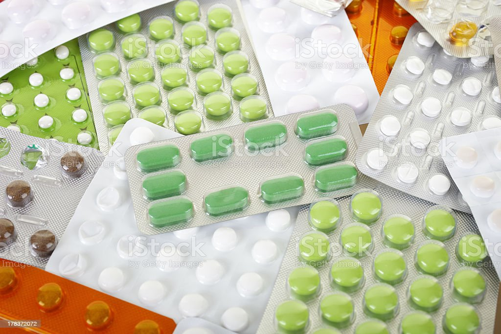 Many tablets or pills royalty-free stock photo