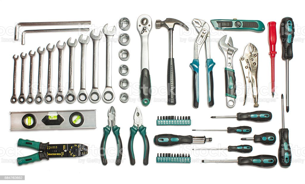 Many Tools. stock photo