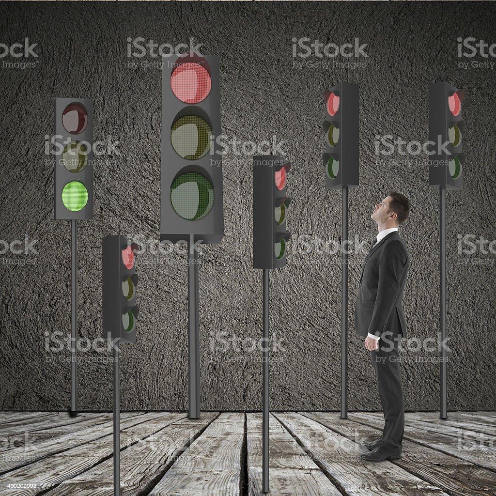 many traffic light stock photo
