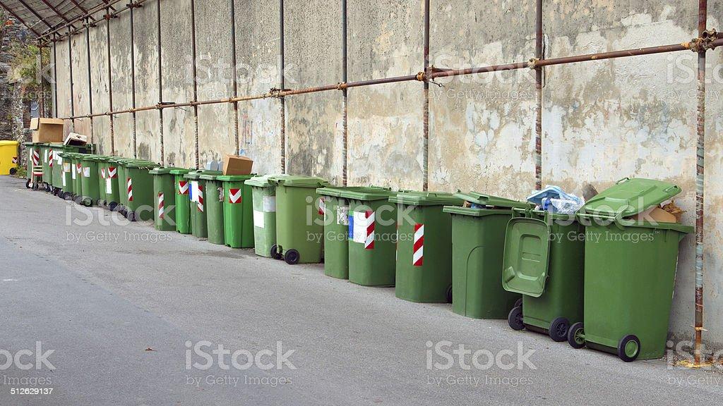 many trash bins royalty-free stock photo