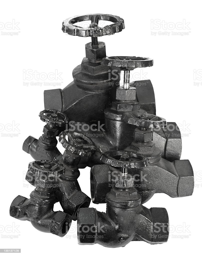 many valves stock photo