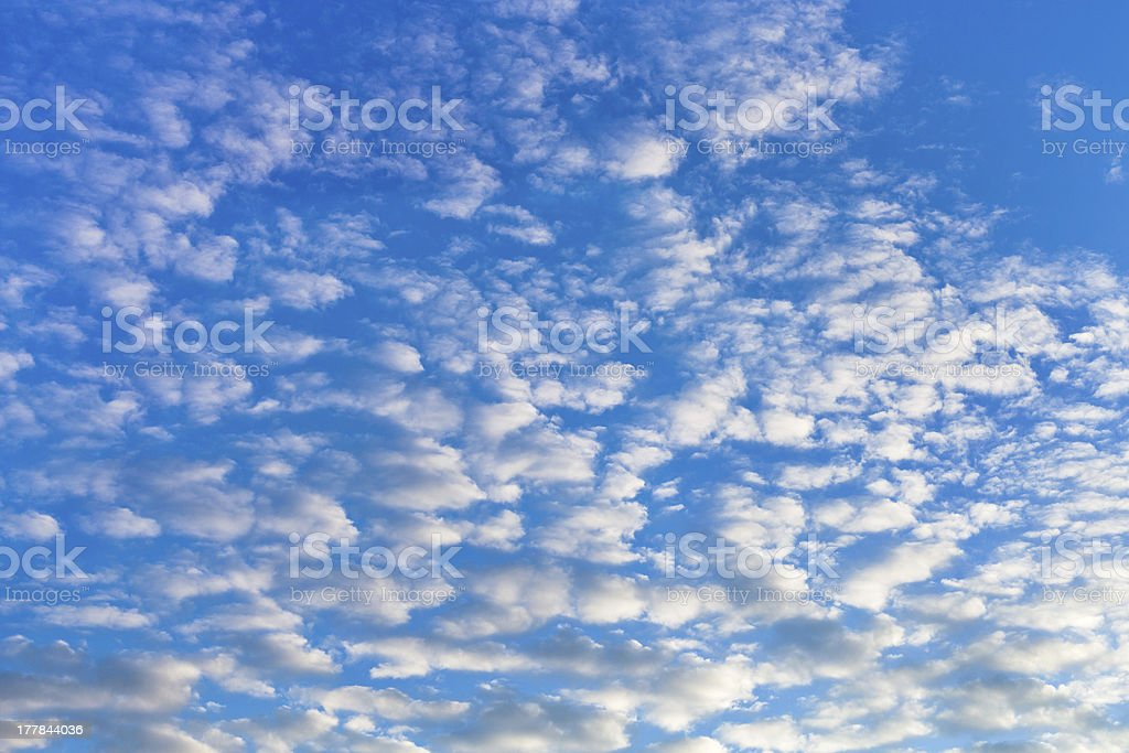 many white cumulus cloudsin blue sky royalty-free stock photo