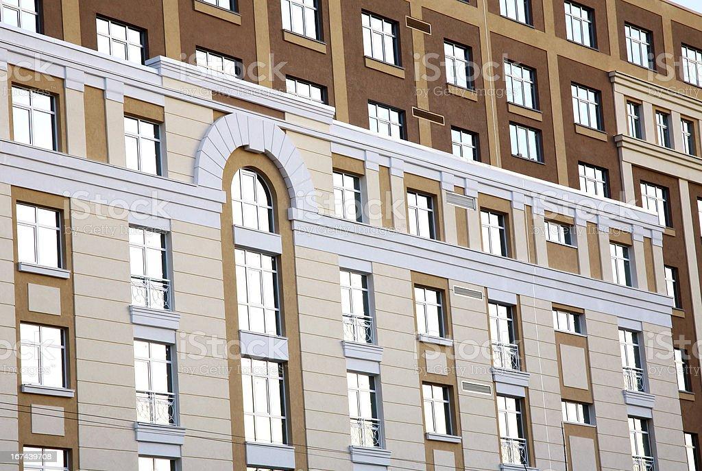 Many windows on residental building royalty-free stock photo
