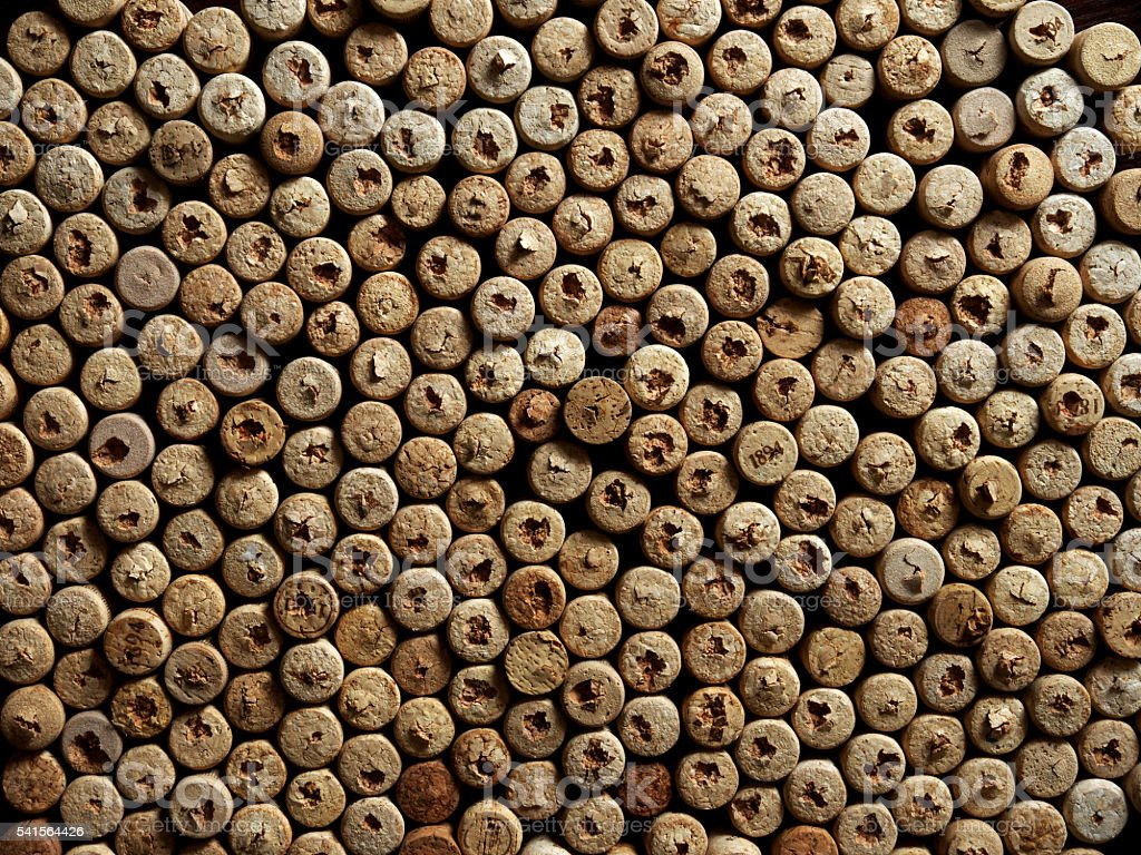 many wine corks from bottles stock photo