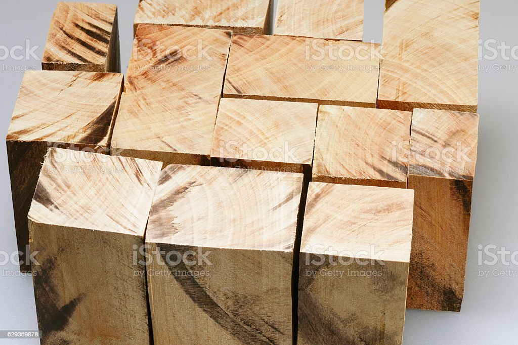 many wooden blocks stock photo