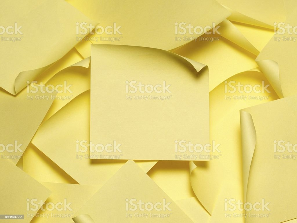 Many Yellow Sticky Note royalty-free stock photo