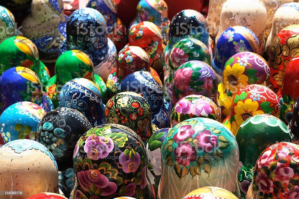 Many-colored matryoshkas royalty-free stock photo