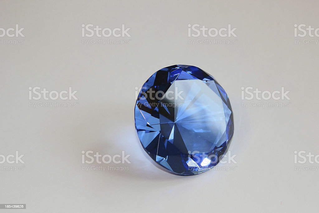 Many-sided figure from glass royalty-free stock photo