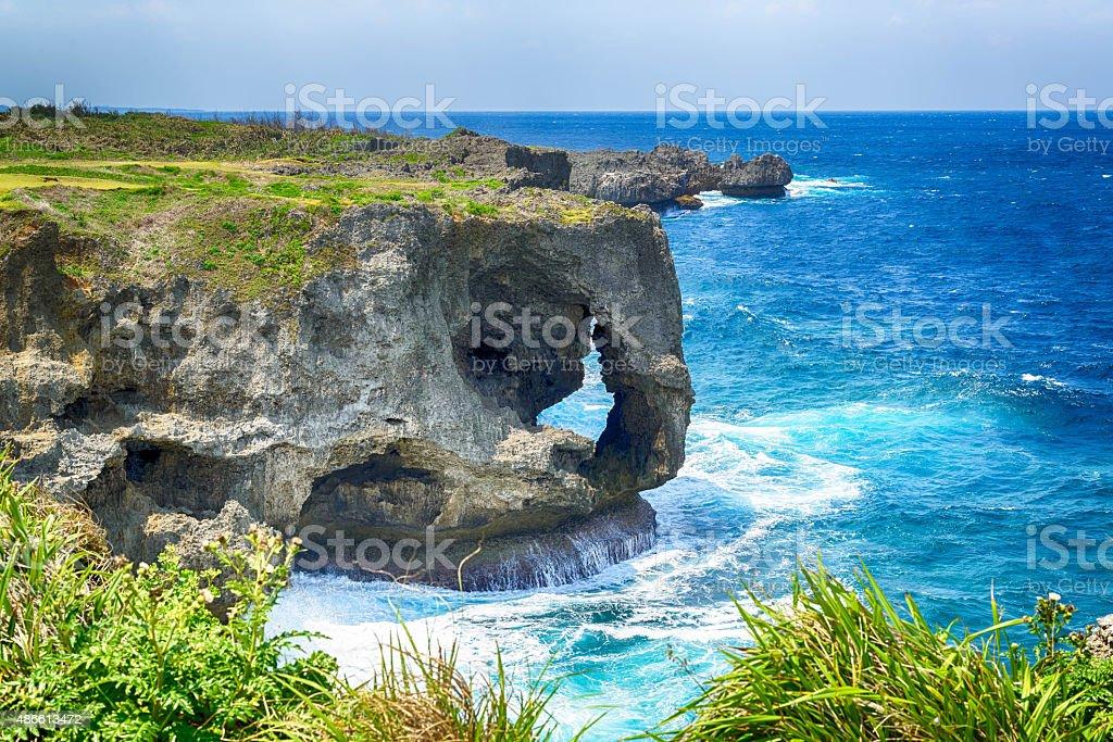 Manzamo Cape in Okinawa, Japan stock photo
