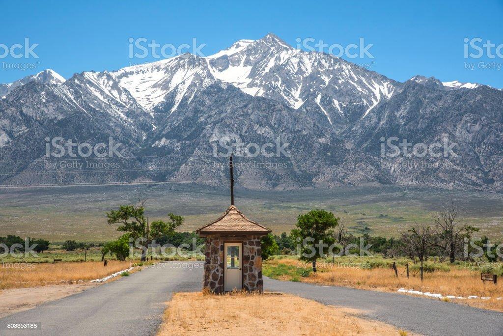 Manzanar Entrance stock photo