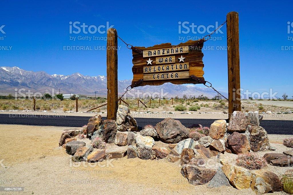 Manzanar National Historic Site stock photo