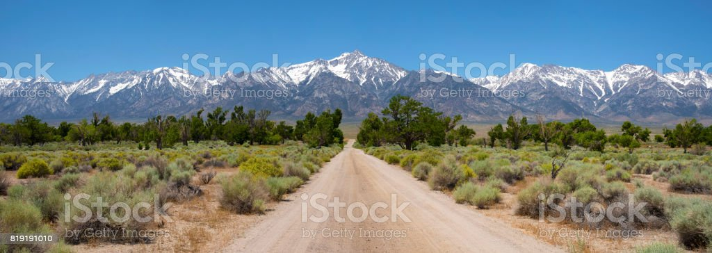 Manzanar panorama stock photo