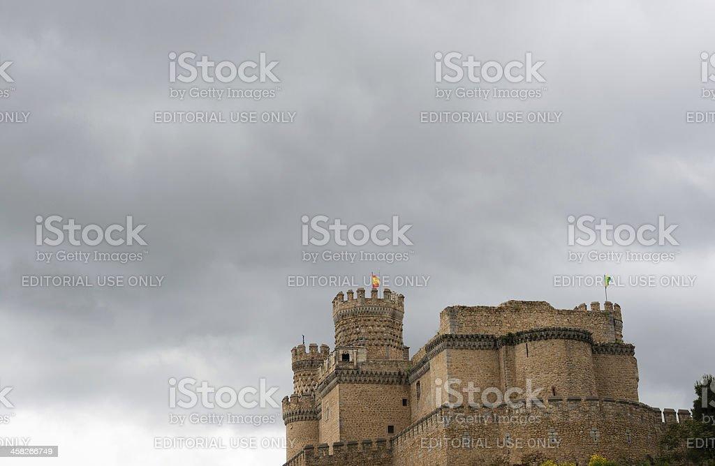 Manzanares El Real Castle in Madrid royalty-free stock photo