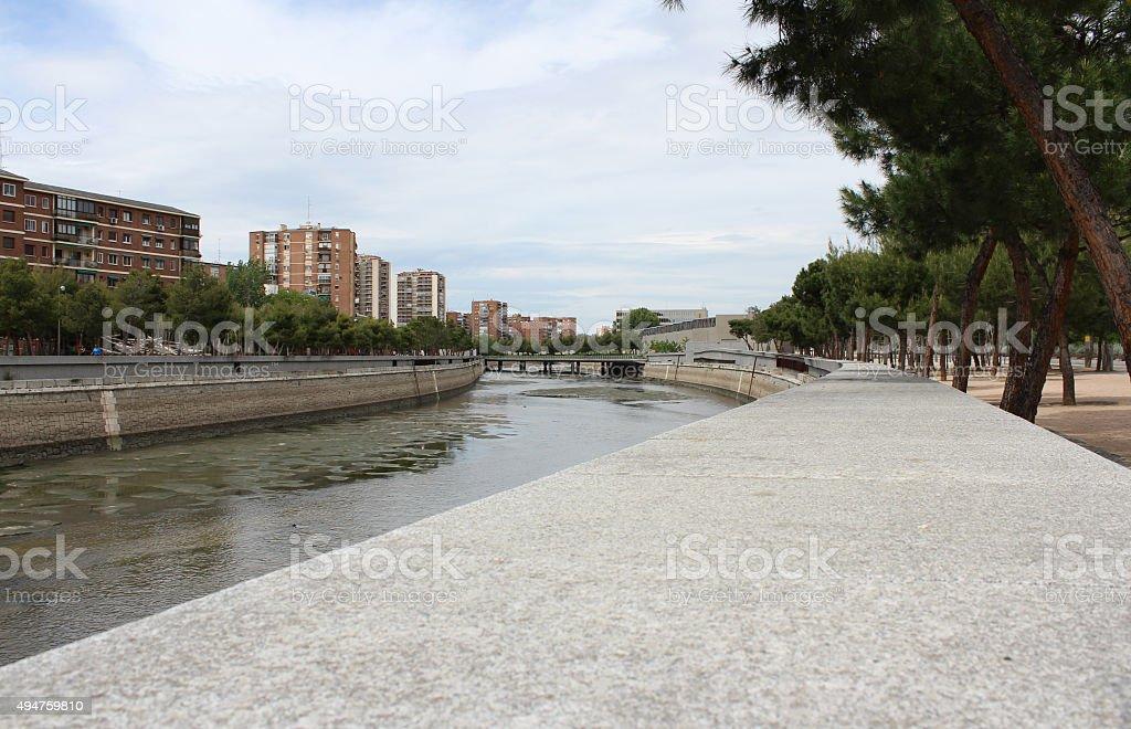 Manzanares River, Madrid, Spain, stock photo
