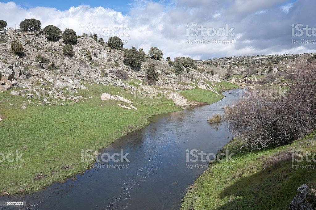 Manzanares River stock photo