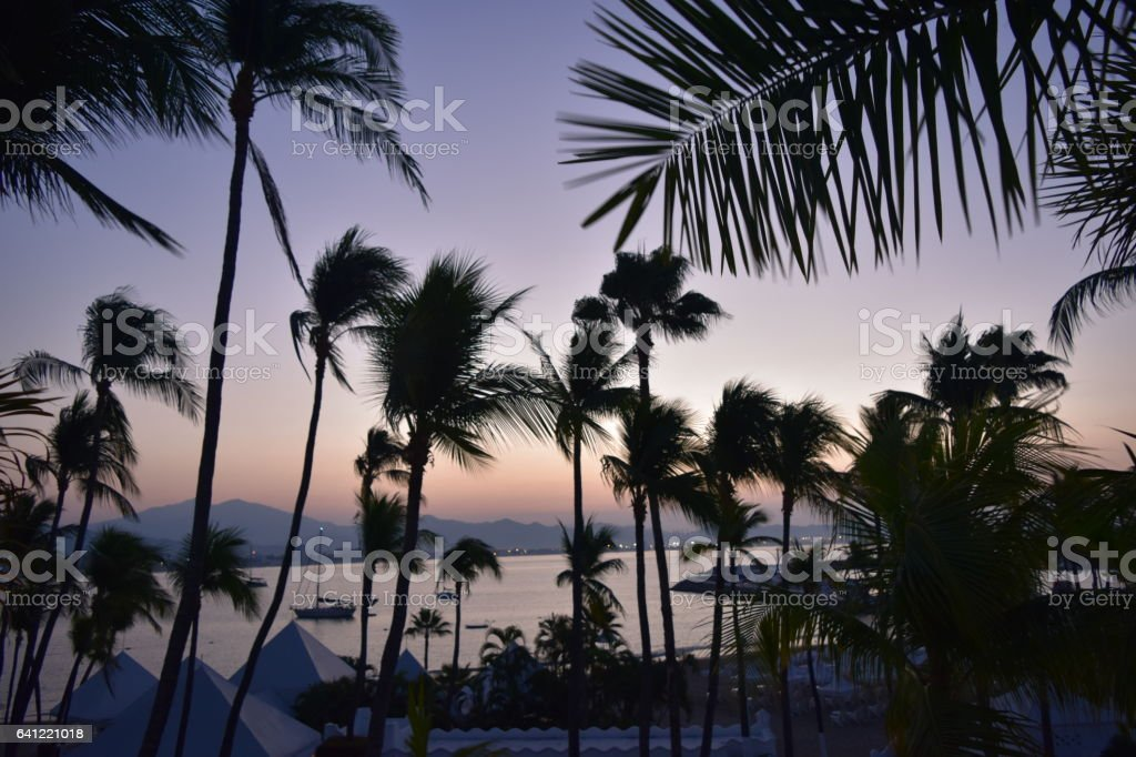 Manzanillo Sunrise stock photo