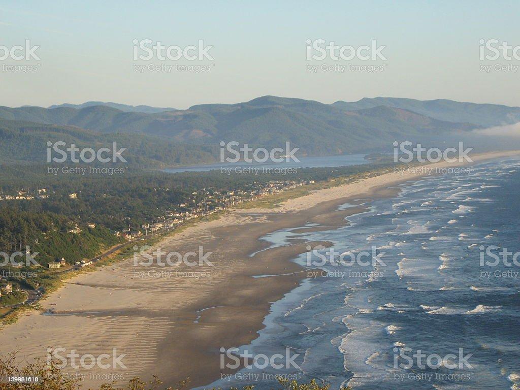 Manzanita beach viewpoint 2 royalty-free stock photo