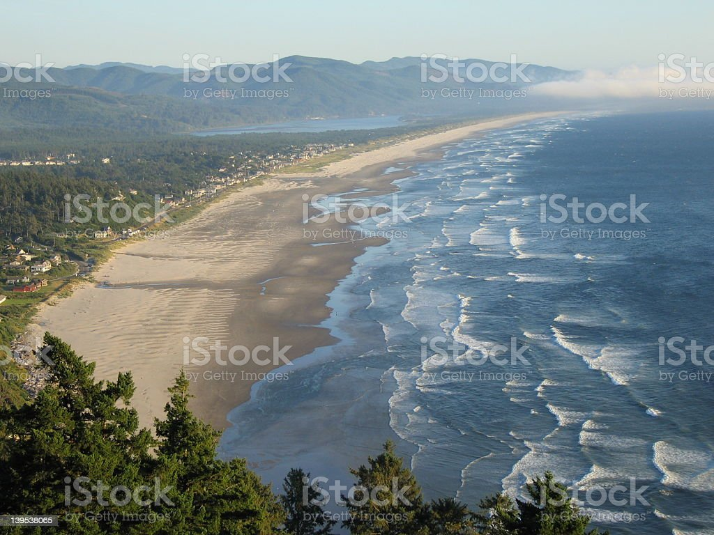 Manzanita beach viewpoint royalty-free stock photo