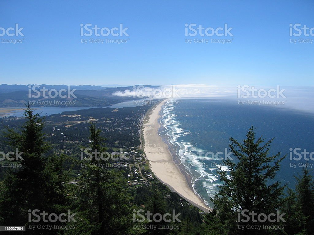 Manzanita coastline royalty-free stock photo