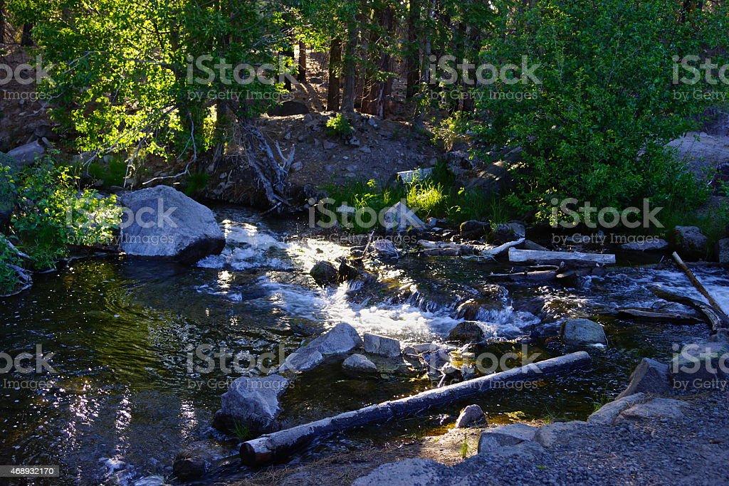 Manzanita Lake Creek stock photo